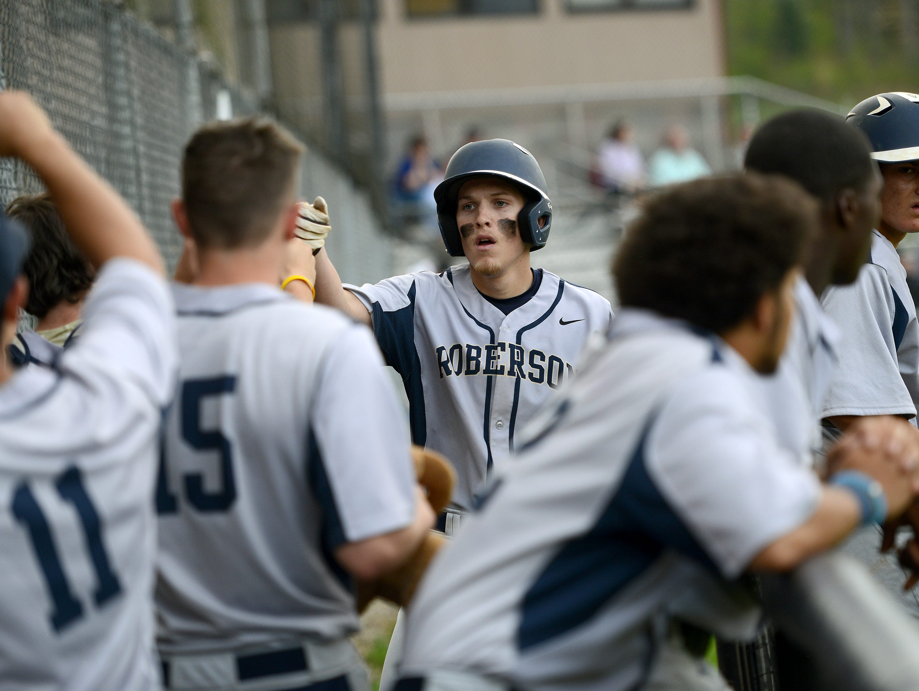 Josh McNair is the only senior for the Roberson baseball team.