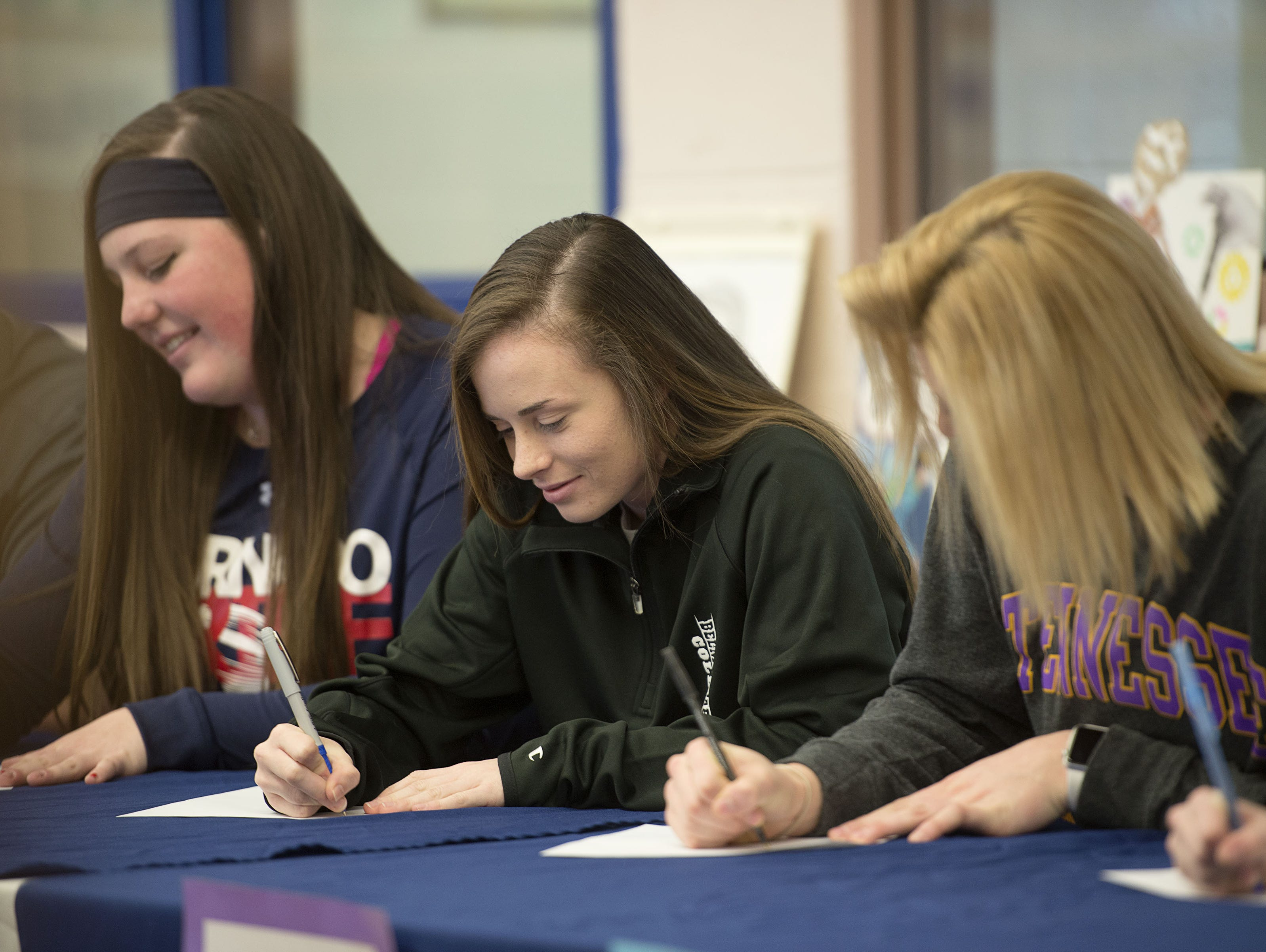 West Henderson held an athletic signing on Friday for six of its senior athletes