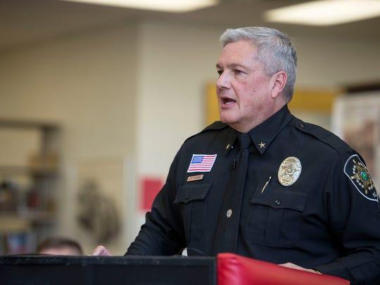 Buncombe County Sheriff Van Duncan honors Erwin students