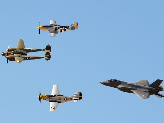F-35 and WWII planes
