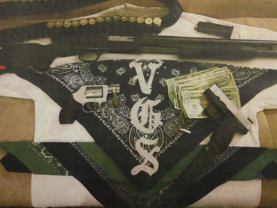 These are weapons seized in the arrests.