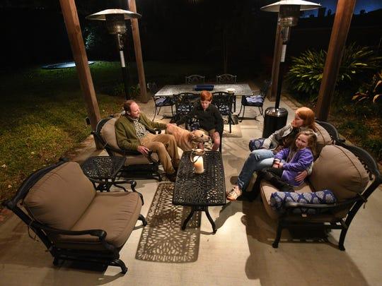 A Shreveport family enjoys their outdoor patio in Shreveport.