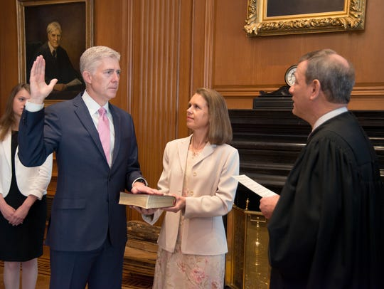 On April 10, 2017, Chief Justice John Roberts administers
