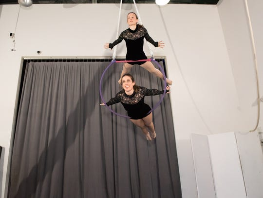 Participants perform in Westchester Circus Arts' Adult