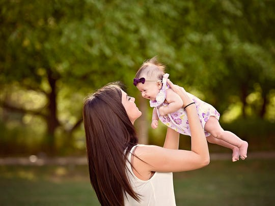 A 2017 photo of Kaleigh Cole and her daughter Brynlee