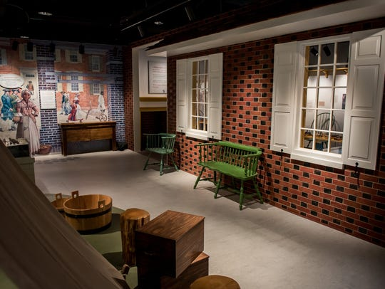 A view of Tree Tun Tavern inside the Museum of the
