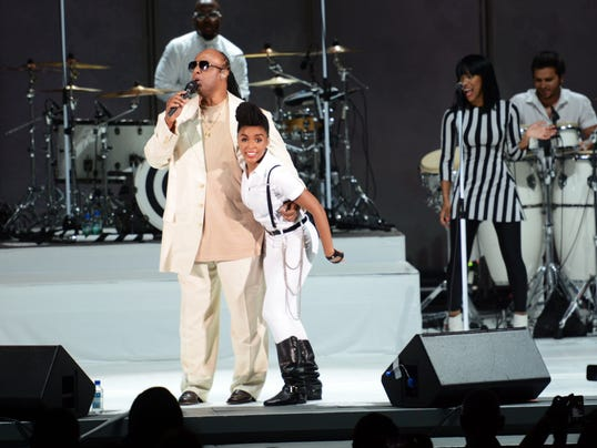 Janelle Monáe and Stevie Wonder