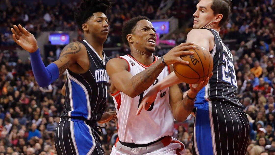 DeMar DeRozan, Scola lead Toronto Raptors over Magic