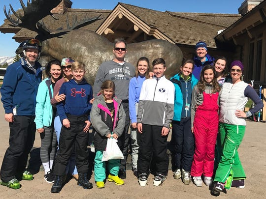 Spring Break Utah Three Newburgh families spent quality ski time together over spring break and found time for a group photo at the Snowbasin Ski Resort in Utah. In the photo are Scott, Emily, Keri and Michael and Ella Edwards; Paul, Lydia and Brendan Daines; and Paige, Todd, Claire, Elise and Francie Renschler.