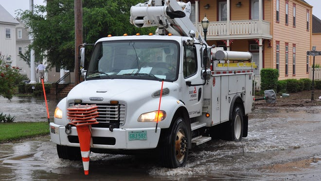 Gulf Power Company crews have restored power to 59,000 customers in just three days following the devastating floods that hit Northwest Florida.