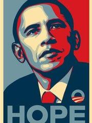 Barack Obama 2008 campaign poster.