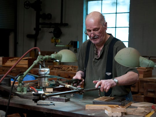 Retired wood type cutter Norb Brylski, who died Jan.