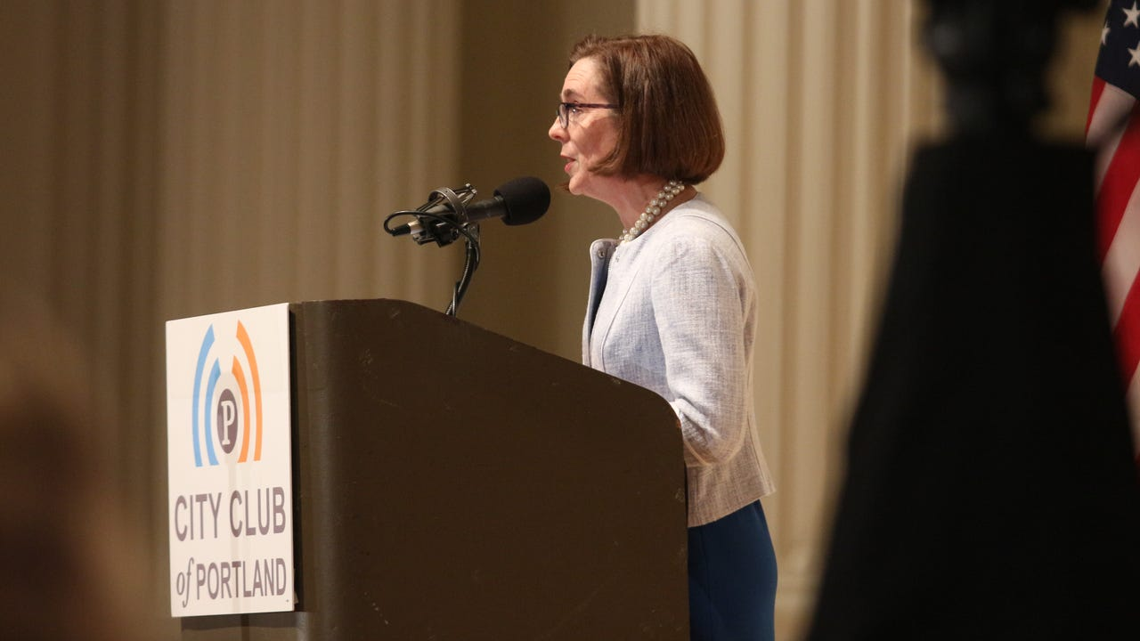 Gov. Kate Brown delivered her second State of the State address on Friday, April 8.