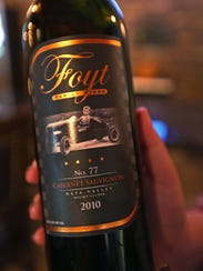 This is a 2010 Cabernet Sauvignon wine from the Foyt