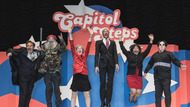 """""""THE CAPITOL STEPS perform live for crowds unafraid to get away from their computers and see the real performers."""""""