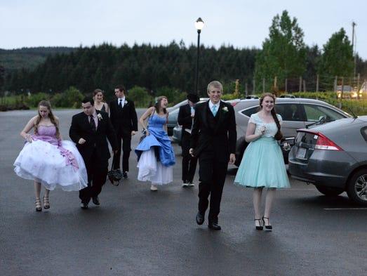 Dallas High School students enjoy their prom at Zenith Vineyard in West Salem on Saturday, May 3, 2014.