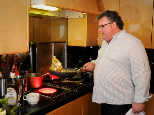 Celebrity chef, David Burke, at his Fort Lee home