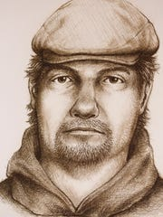 A sketch released by police Monday, July 17, 2017, of a man believed to be connected to murder of Liberty German and Abigail Williams in February 2017.