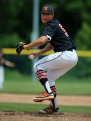 Somerville pitcher Dan Belford pitches against Colonia in the North 2 Group III sectional final on Friday, June 1, 2018.