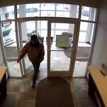 Delaware State Police released this image of a person they say is a bank robbery suspect.