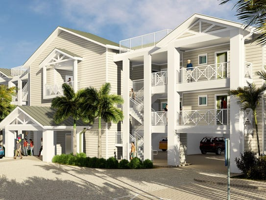Architectural rendering of the exterior for the new Matthews Lodge at the Island Inn on Sanibel. A late 2017 or early 2018 opening was scheduled.