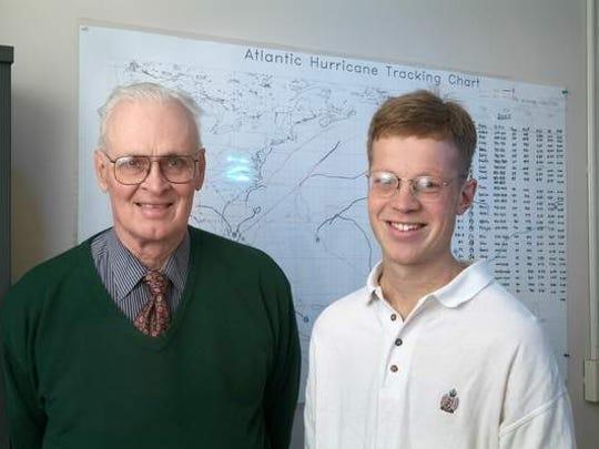 William Gray, right, and Phil Klotzbach will continue to track and forecast Atlantic hurricanes for the 2014 season from Colorado State University. CSU Creative Services