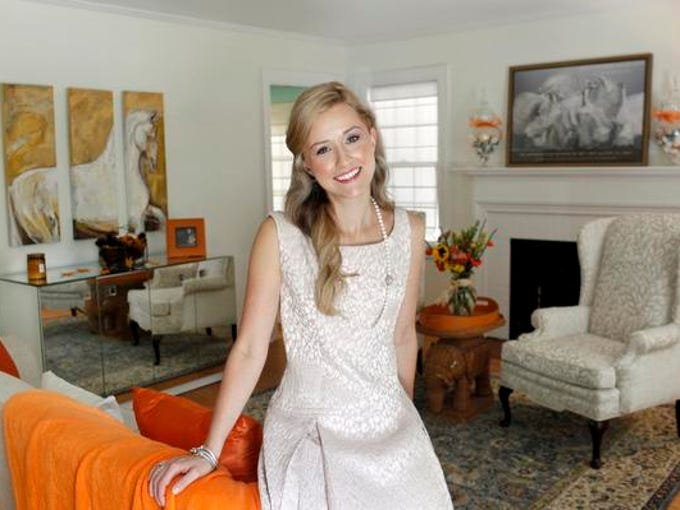 Courier-Journal Stylemaker Danielle Koerber in her home in Louisville, Ky. Oct. 12, 2013