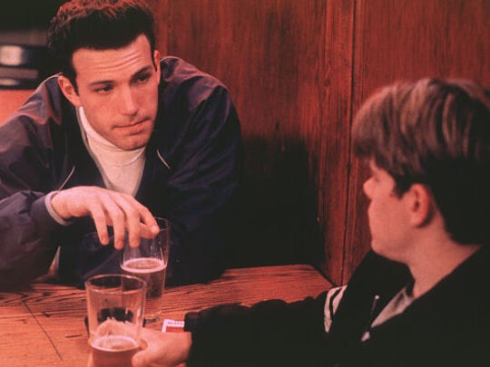 "Ben Affleck and Matt Damon in a scene from ""Good Will Hunting"" (1997)."