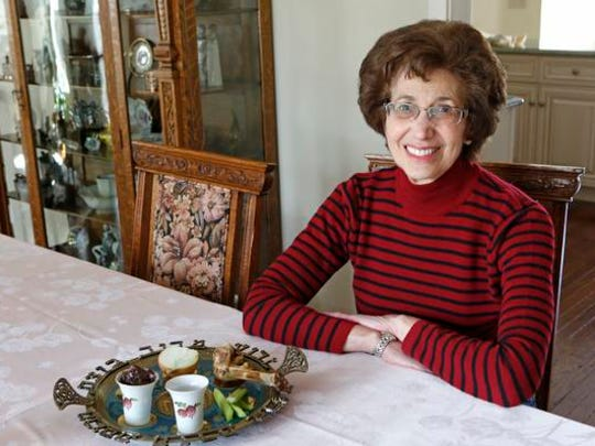 Annleah Berger uses the traditional horseradish as the bitter herb but didn't have it on hand so she replaced it with an onion.