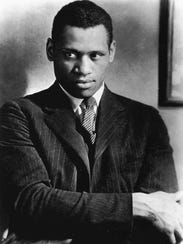 Paul Robeson, from Princeton, is shown in London in