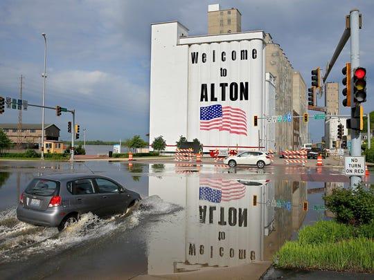 Spring Flooding Mississippi River