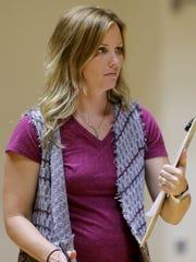 Nocona head volleyball coach Tiffany Clay played a