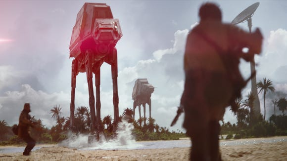 It's getting rough in 'Rogue One: A Star Wars Story.'