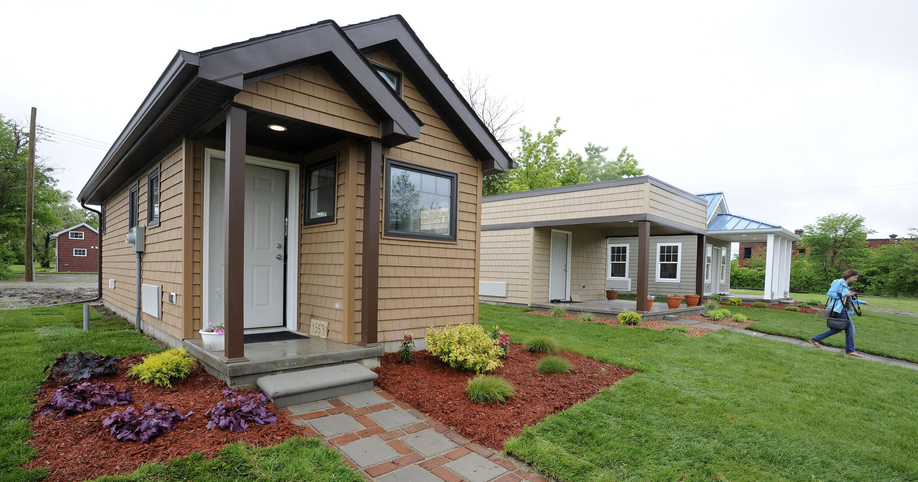Public gets first, only peek at Detroit tiny homes