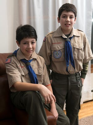 Brothers Frankie and Vincent Lepore, 13 and 12 respectively, are two of three boys who witnessed a bear attack of their scout master on Dec. 20, 2015, in Rockaway Township.