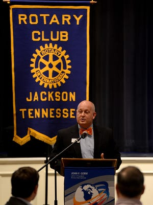University of Tennessee at Martin Chancellor Keith Carver was the guest speaker Jan. 25 at the Jackson Rotary Club. Carver recently completed a tour of Middle and West Tennessee.