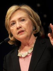 Democratic presidential candidate Hillary Rodham Clinton.