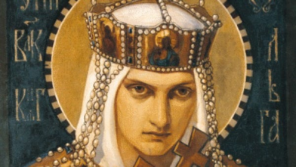 You don't want to mess with St. Olga, the patron saint of Penn State fans this week.