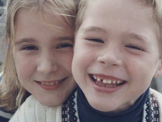 Ali McDonough with her brother Andrew, who died from