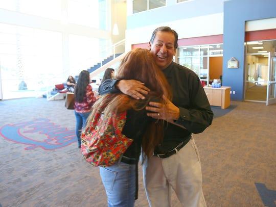 Retiring Indio High School principal Rudy Ramirez gets