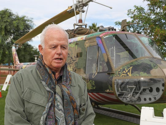 Artist Steve Maloney talks about the helicopter that