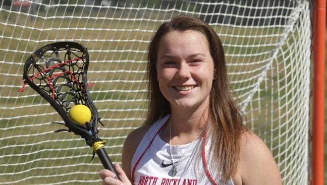 Kaitlyn Gutenberger from North Rockland is the 2016 Journal News/lohud.com Rockland girls lacrosse player of the year. Here she is pictured at the high school on June 21st, 2016.