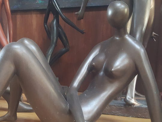 Sculptor, painter and musician Geoffrey Myers will