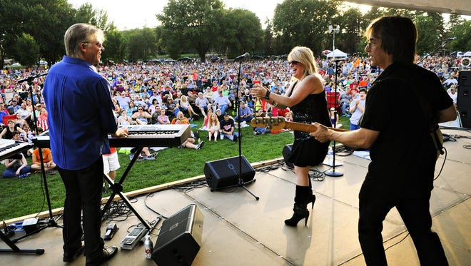 The Fabulous Armadillos played for a crowd of more than 12,000 people during the last night of Summertime By George! in August 2013 at Lake George.