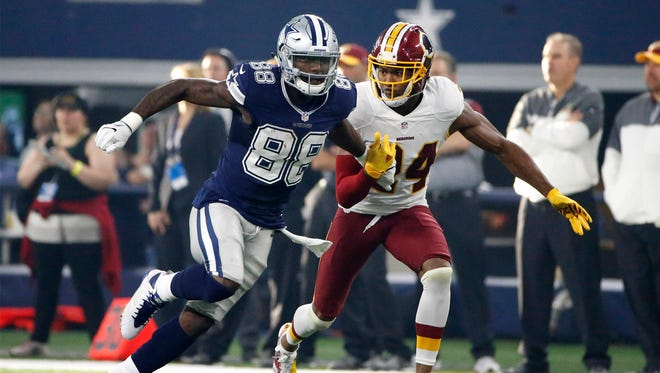 Dallas Cowboys wide receiver Dez Bryant (88) runs a pass route as Washington Redskins' Josh Norman (24) defends in the first half of an NFL football game, Thursday, Nov. 24, 2016, in Arlington, Texas. (AP Photo/Ron Jenkins) ORG XMIT: OTKTG144