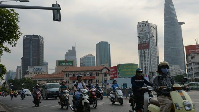 The streets of Ho Chi Minh City, Vietnam