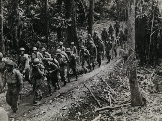 Moving through the tropical jungle of Guadalcanal,