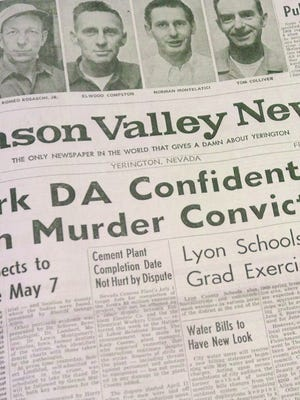 Mason Valley News page.
