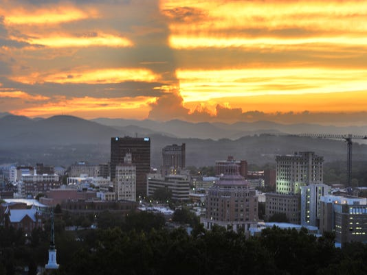 Asheville downtown skyline