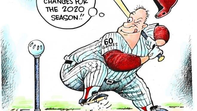 Dave Granlund editorial cartoonThumbnail Color Edit Toon Mlb 2020 Season